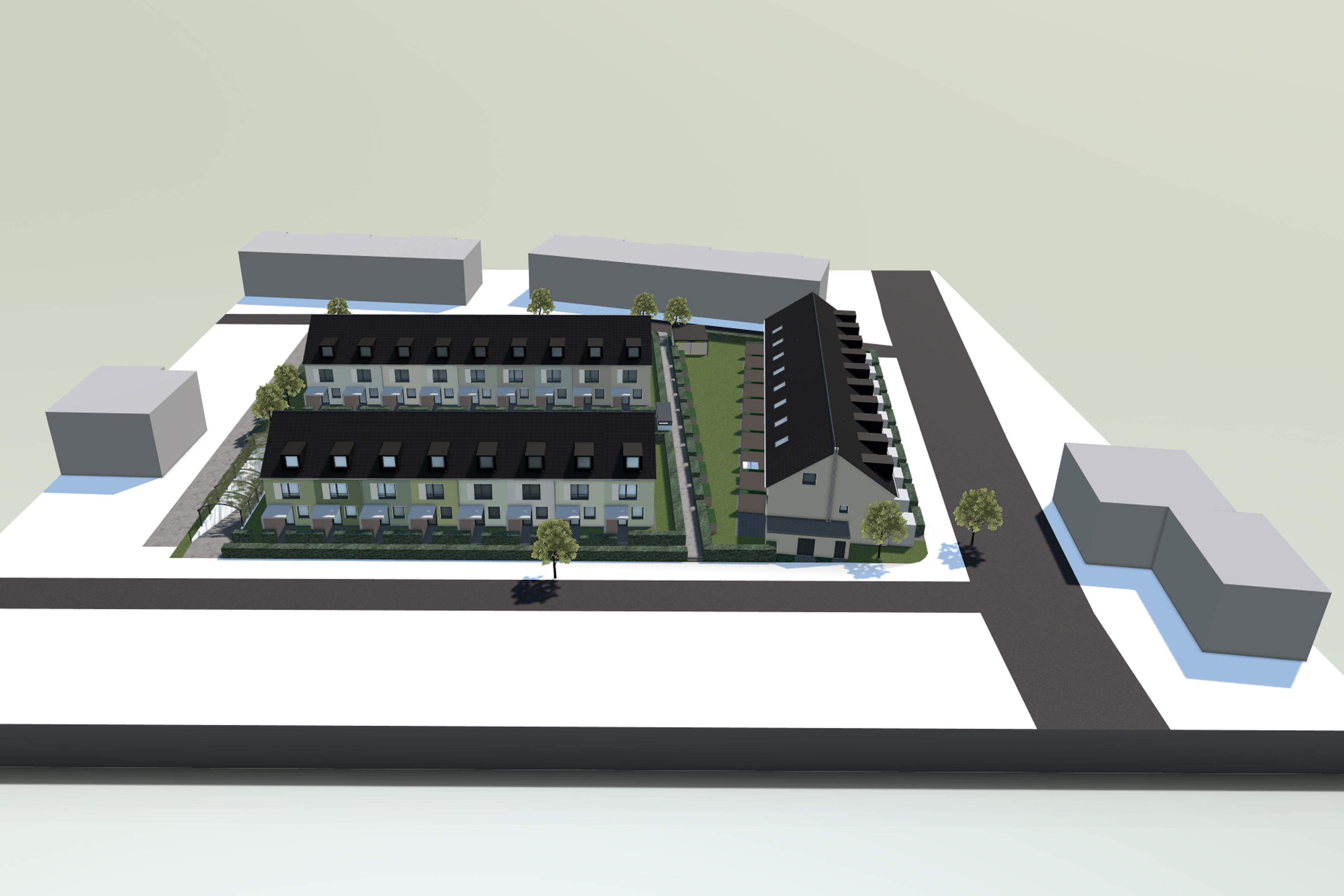 Die Deutsche Reihenhaus AG Baut Zum Ersten Mal In Pulheim: Im Wohnpark U201eAn  Der Escher Straßeu201c Entstehen 27 Einfamilienhäuser